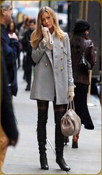 Сапоги с пальто