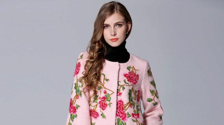 Женские пальто с вышивкой 16