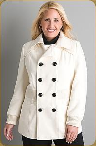 Купить женское пальто больших размеров