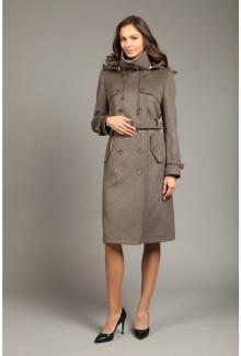75da0764048 Женское кашемировое пальто с капюшоном О-782 - купить в Москве ...