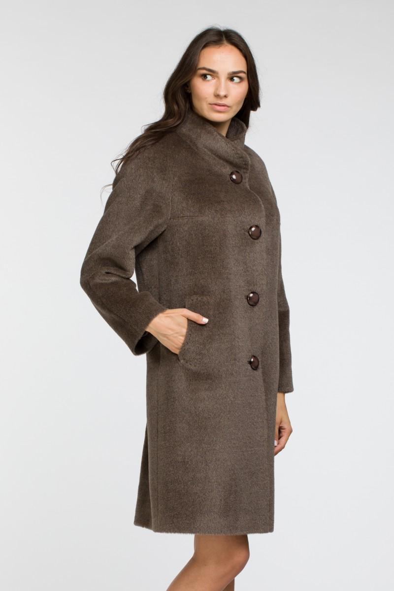 cac97683188 Женское демисезонное пальто со стойкой О-863 - средней длины