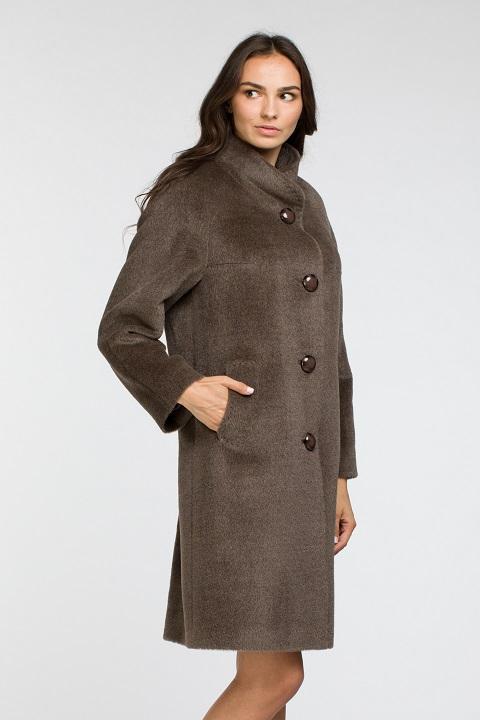 b0c7c4fe5a1 Женское демисезонное пальто со стойкой О-863 - купить по выгодной ...