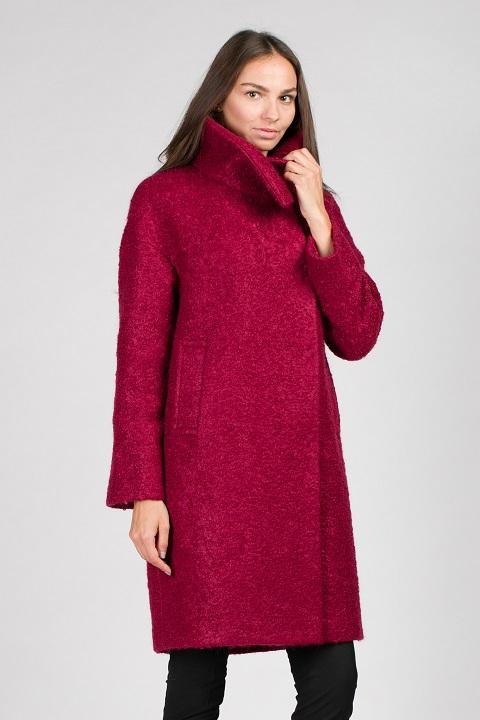 851c7e9b Женское демисезонное пальто О-872 - средней длины, цвет зеленый,малиновый