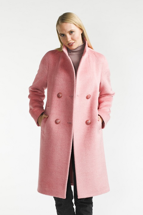 58910a2cc57 Роскошкое пальто из бэби сури О-909 - средней длины