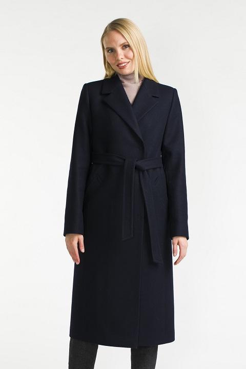 a849b4999cc Пальто женское синее и темно синее 2019 - купить в Москве