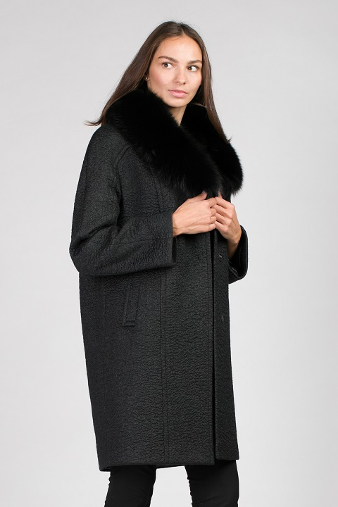 пальто женское зимнее с мехом фото