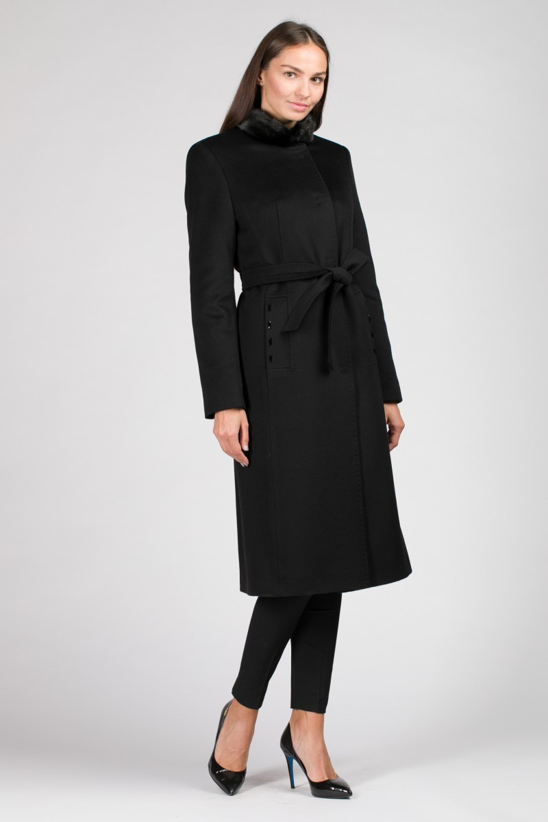 Женское зимнее пальто с норкой О-876 - средней длины b1f6656a2b0d0