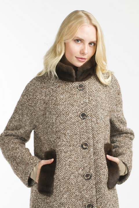 Женское утепленное пальто О-900 - средней длины 0a2eddb69e5e2