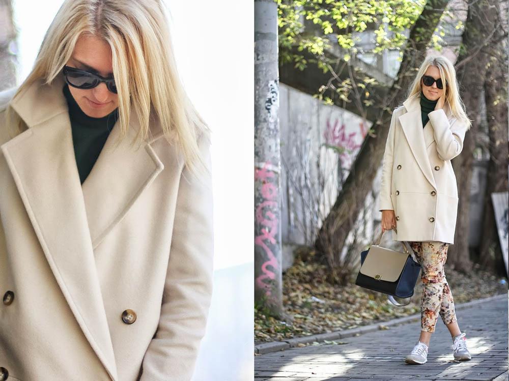 Как и с чем носить длинное пальто?