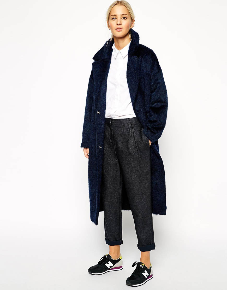 мохеровое пальто