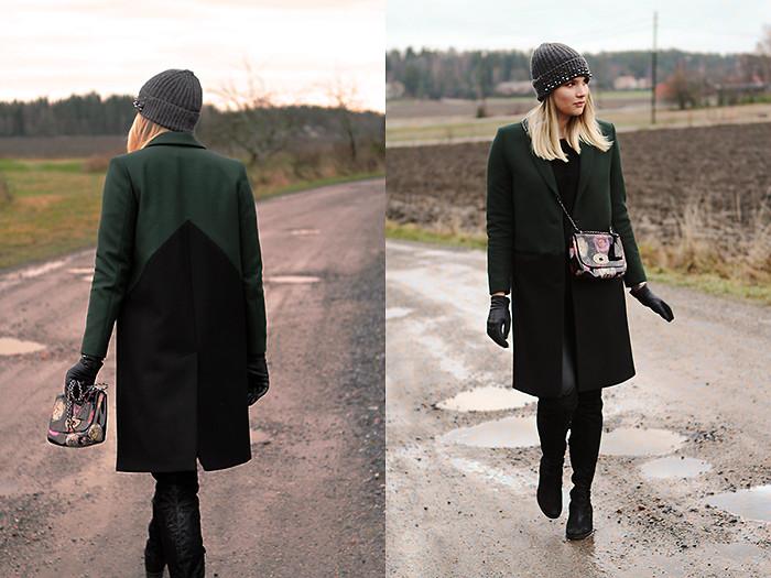 с какими сапогами носить пальто