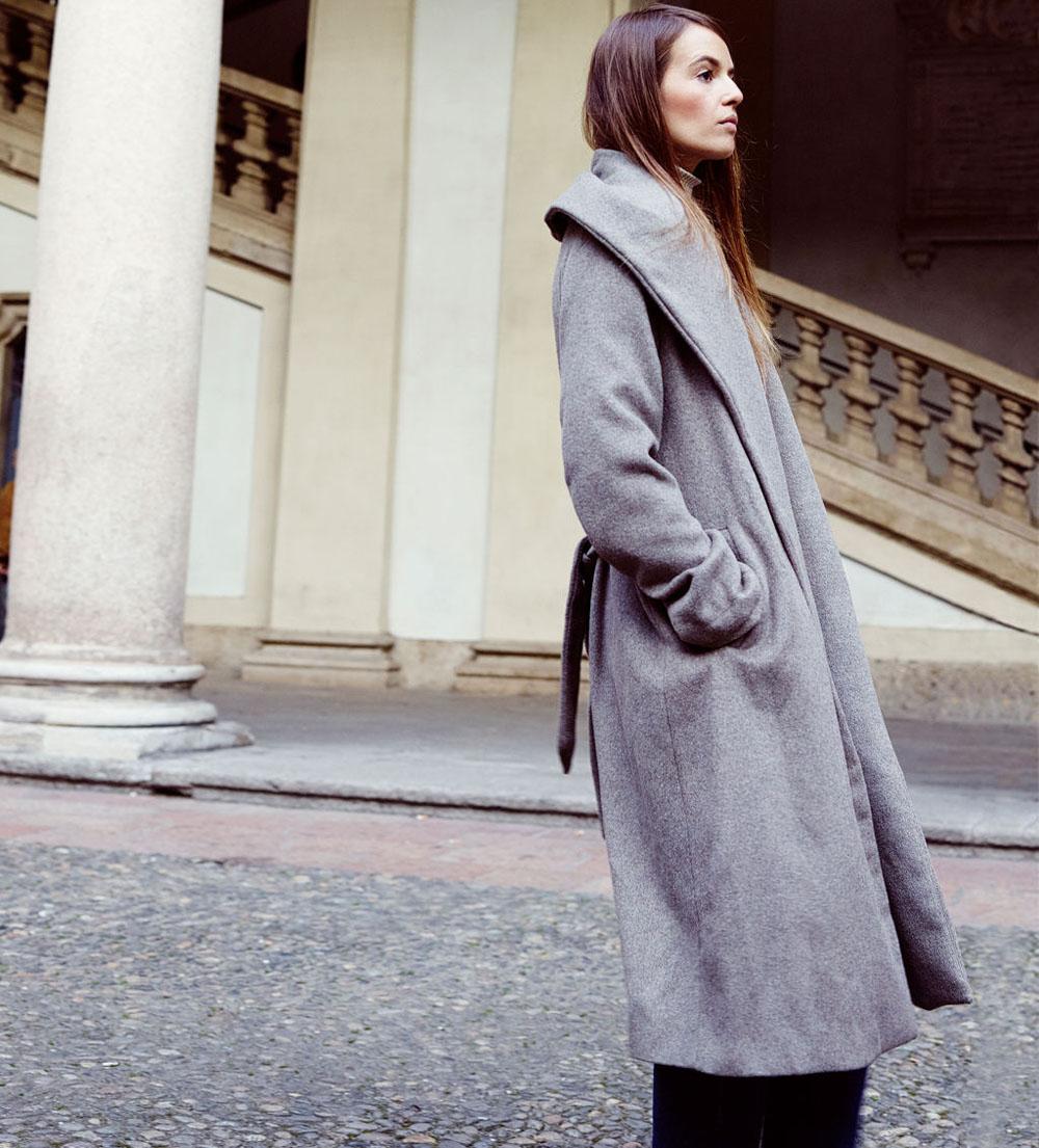 как завязать пояс на пальто