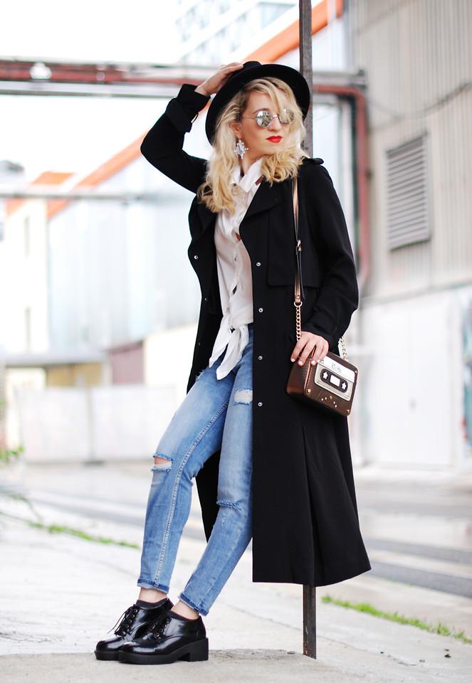 Головные уборы, которые подойдут к женскому чёрному пальто