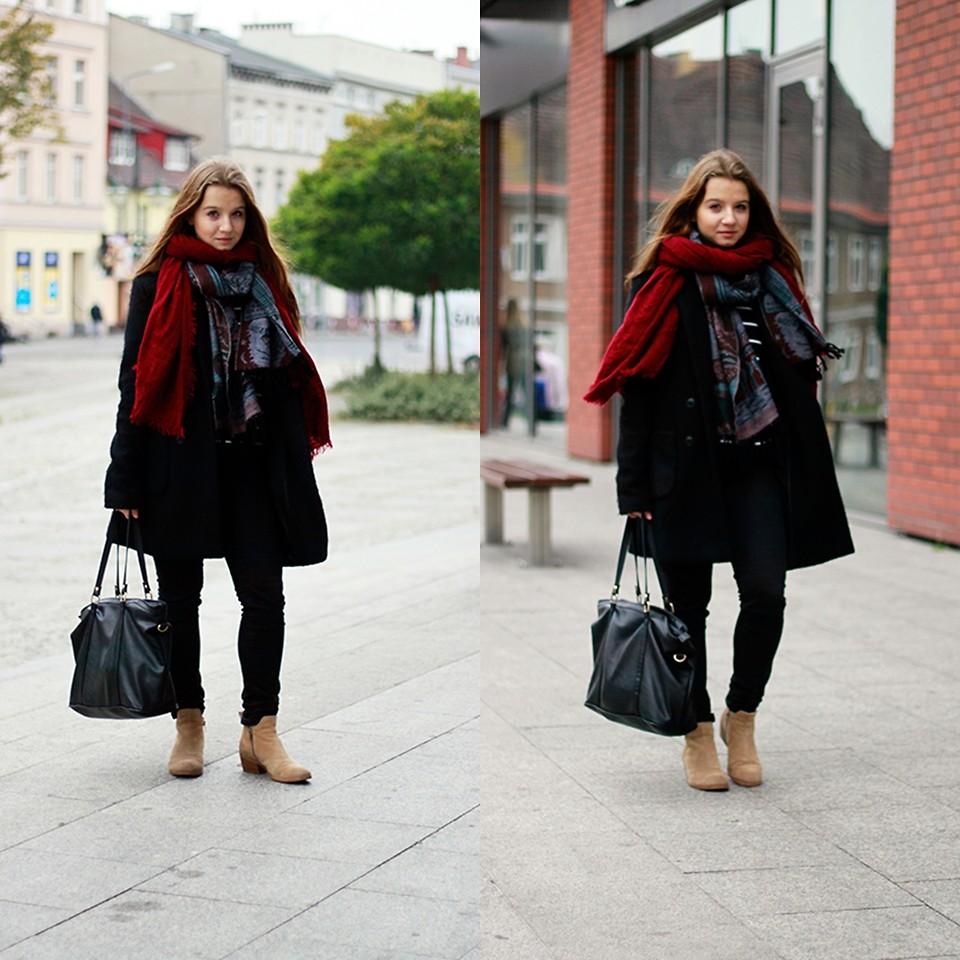 С чем носить чёрное пальто?